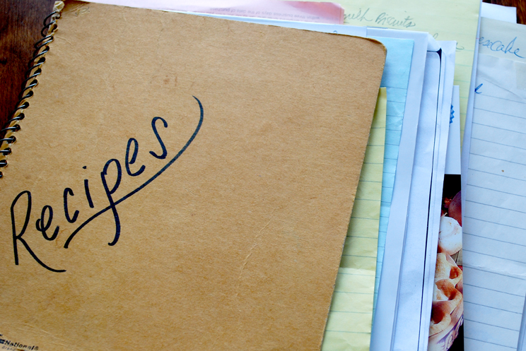 How do you file your recipes?